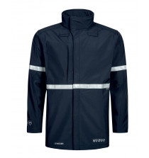 High Viz Arc Flash Navy Waterproof Shell Jacket 17.1cal/cm2