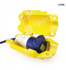 Industrial Small Plug Lockout Yellow