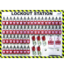 50 Lock Lockout Station With Contents