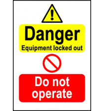Size A7 Danger Eqp locked out