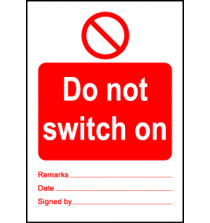 Size A7 Do not switch on