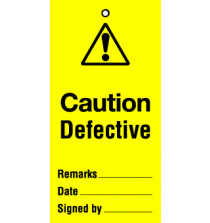 Lockout tags 110x50mm Caution Unsafe. Pack of 10