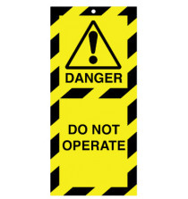 Lockout Safety Tags Pk 10 110 x 50mm Danger Do Not Operate