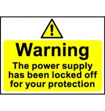 'Warning...' - Safety Lockout Labels 55 x 75mm
