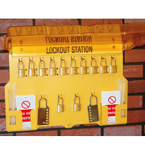 Lockout Station/hinged cover (with contents) 393Hx559W mm