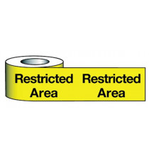 Barrier Warning Tape 75mmx100m Restricted Area