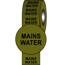 Pipeline Info Tape - 150mmx33m - Mains Water