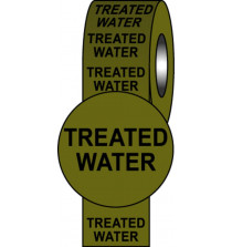 Pipeline Info Tape - 50mmx33m - Treated Water