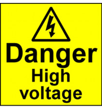 Electrical Safety Labels - HIgh Voltage