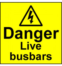 Electrical Safety Labels - Live Busbar