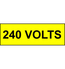 Voltage Labels (Pack 10) 30x90mm 240 Volts