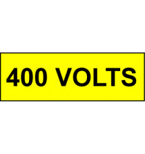 Voltage Labels (Pack 10) 30x90mm 400 Volts