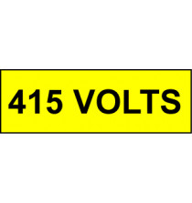 Voltage Labels (Pack 10) 30X90 415mm Volts