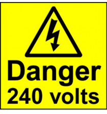 Electrical Safety Labels - 240 Volts