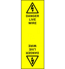 Electrical Cable Marking Labels - Live Wire