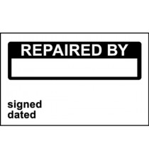 Elec Inspec Labels 25x40mm S/A vinyl Roll 250 Repaired By
