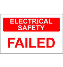 Elec Inspec Labels 40x75mmS/A vinyl Roll 250 E/Safety Failed