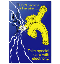 Electricity Safety Posters - 'Take special care with electricity'