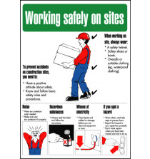 General Awareness Safety Posters - 'Working Safely on Site'