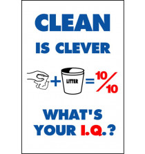 Housekeeping Posters - 'Clean Is Clever'