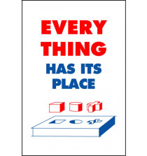 Housekeeping Posters - 'Everything Has Its Place'