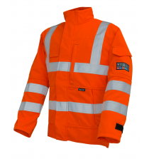 Arc Flash High Viz Orange Jacket 9.8cal/cm2