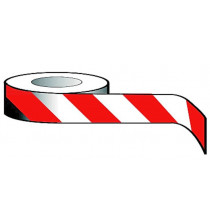Economy Barrier Tape 75mm x 500m red/white non adhesive