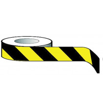 Economy Barrier Tape 75mmx500m Yellow/Black non-adhesive