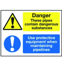 Lockout Sign 450x600mm Danger - these pipes