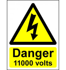 Hazard Warning Sign Danger 11000 volts