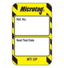 Scafftag Microtag for harnesses - Yellow insert