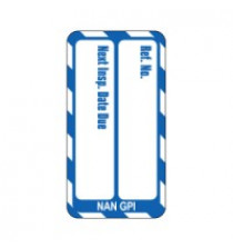 Nanotag Insert - Blue - Next Inspection - Pack of 10