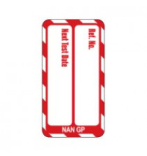 Nanotag Insert - Red - Test Due - Pack of 10