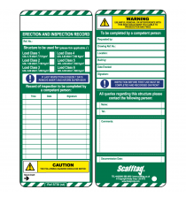 SCAF6 Standard Inspection Inserts - Scafftag - Pack of 50