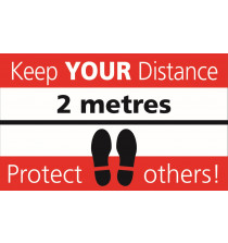 Keep your distance - protect yourselves 300 x 500mm