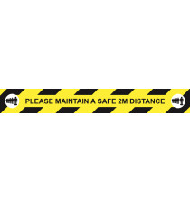 """Social Distancing floor sign """"Please maintain a safe 2m Distance"""""""