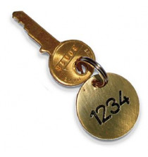 Tag 33mm dia brass discs with hole