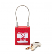 TC38RED50 Safety Padlock with Cable Shackle