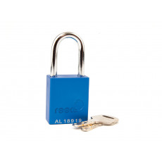 Aluminium Safety Padlock with 38mm Shackle-BLUE