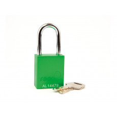 Aluminium Safety Padlock with 38mm Shackle-GREEN