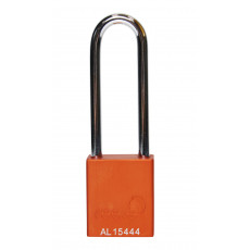 Aluminium Bodied Safety Padlock inc 75mm Shackle-orange
