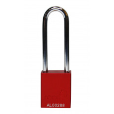 Aluminium Bodied Safety Padlock inc 75mm Shackle-red