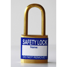 Blue padlock labels