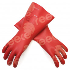 Insulating Latex Gloves 360mmL x 1.0mm thick 1000v Class 0 Size 09, RED