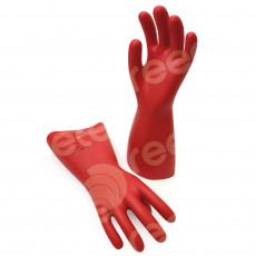 Insulating Latex Gloves 360mmL x 0.5mm thick 500v Class 00 Size: 11 RED