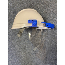 Arc rated Class 1 MSA fit helmet mounted face shield