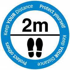 "Social Distancing floor sign ""Keep your distance"""