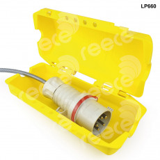 Industrial Large Plug Lockout Yellow