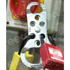 MLH2 Steel lockout hasp, scissor action 45x32mm&19mm dia jaws