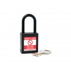 NC38 Nylon Shackle Safety padlock-BLACK
